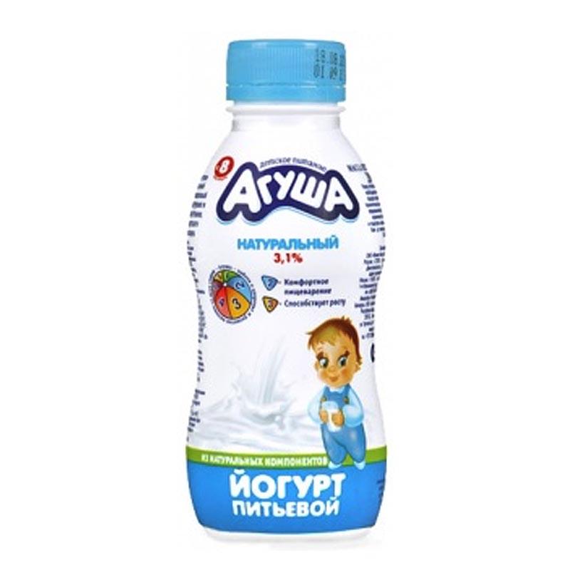 Йогурт Агуша 200 мл Натуральный (с 8 мес)<br>