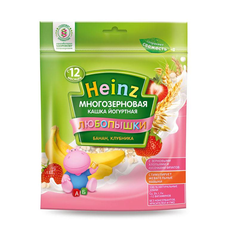 Каша Heinz Любопышка многозерновая молочная 200 гр Банан клубника (с 12 мес)<br>