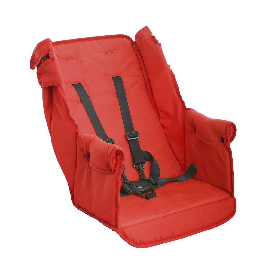 Второе сидение Joovy Caboose Too Seat для колясок Caboose, Caboose Ultralight и Big Caboose Красный<br>