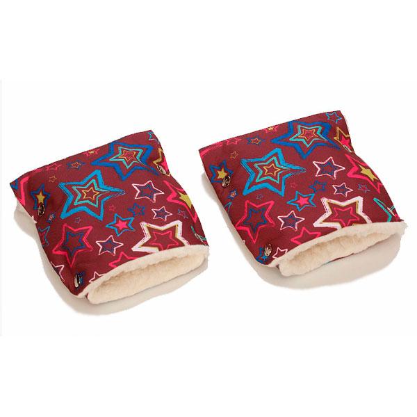 Муфты-рукавички Чудо-Чадо (Рисунок) меховые Звезды<br>