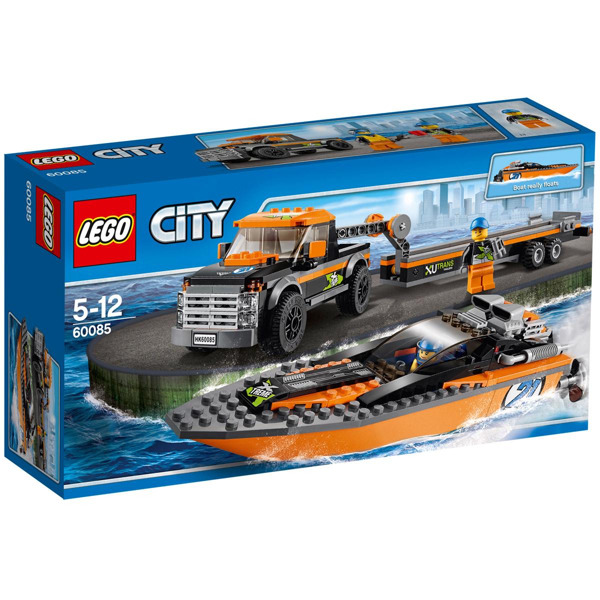 Конструктор LEGO City 60085 Внедорожник 4x4 с гоночным катером<br>