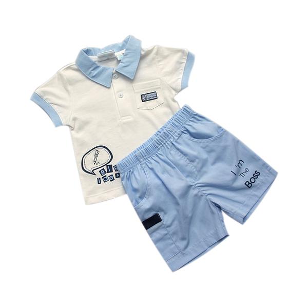 "Комплект WWW ""I'm the Boss"": футболка и шорты, цвет - белый 74 см"