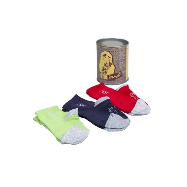 Комплект Ёмаё носки с отделкой 3 пары (37-127) размер 14-16  (синий с светло серым меланж, красный с светло с серым меланж, зелёный с светло серым<br>