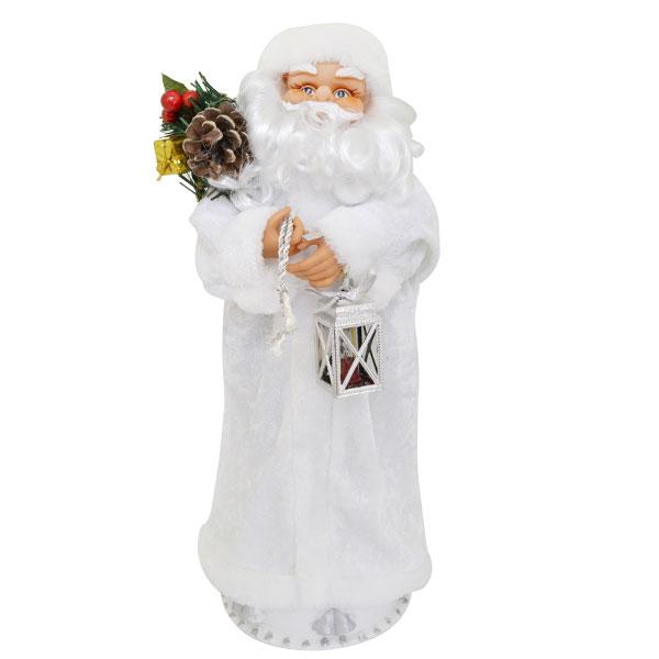 Игрушка Дед Мороз Winter Wings 46 см Серебряный электрический кланяющийся<br>