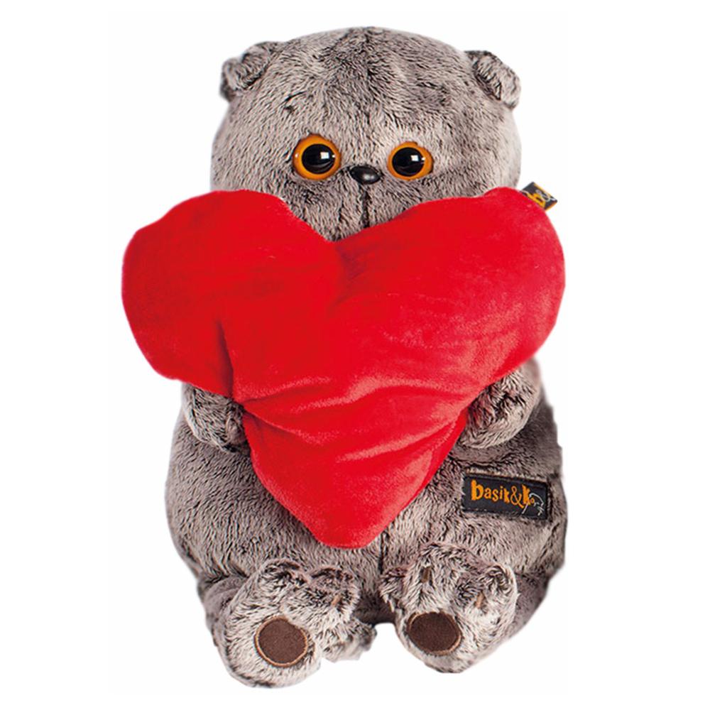 Мягкая игрушка Basik&amp;amp;Ko Басик с сердечком 30 см<br>