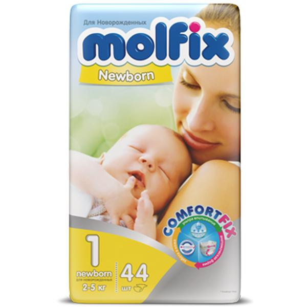 Подгузники Molfix Comfort Fix для новорожденных 2-5 кг. (44 шт.) Размер 1<br>