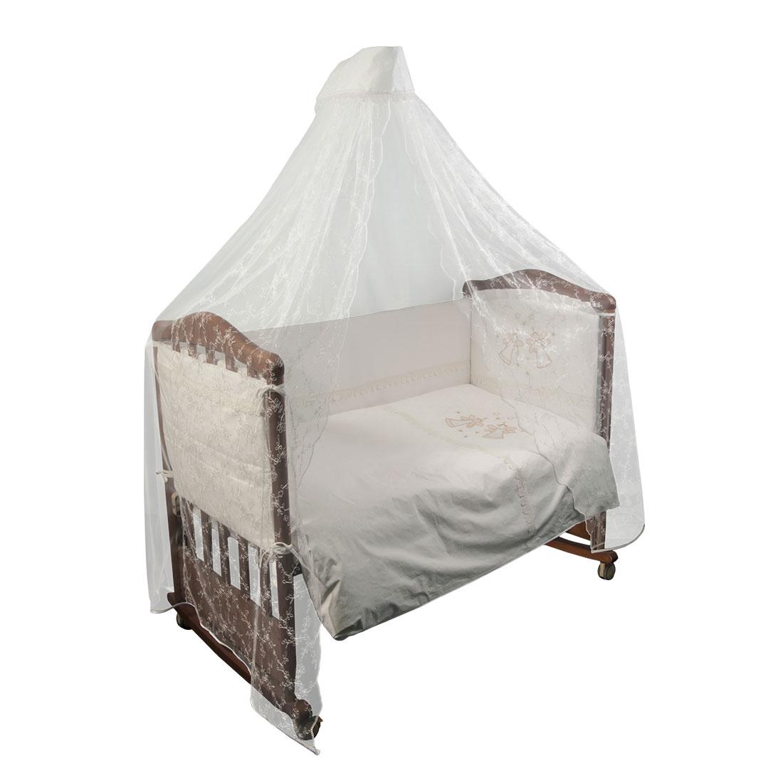 Комплект в кроватку Сонный гномик Эльфы 7 предметов Молочный<br>