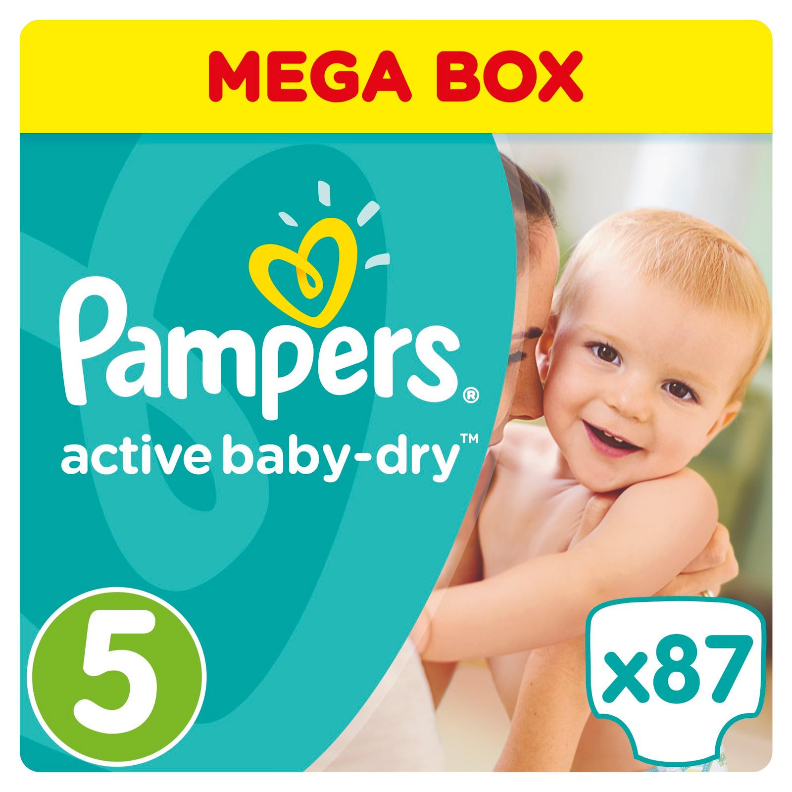 Подгузники Pampers Active Baby Junior 11-18 кг (87 шт) Размер 5<br>