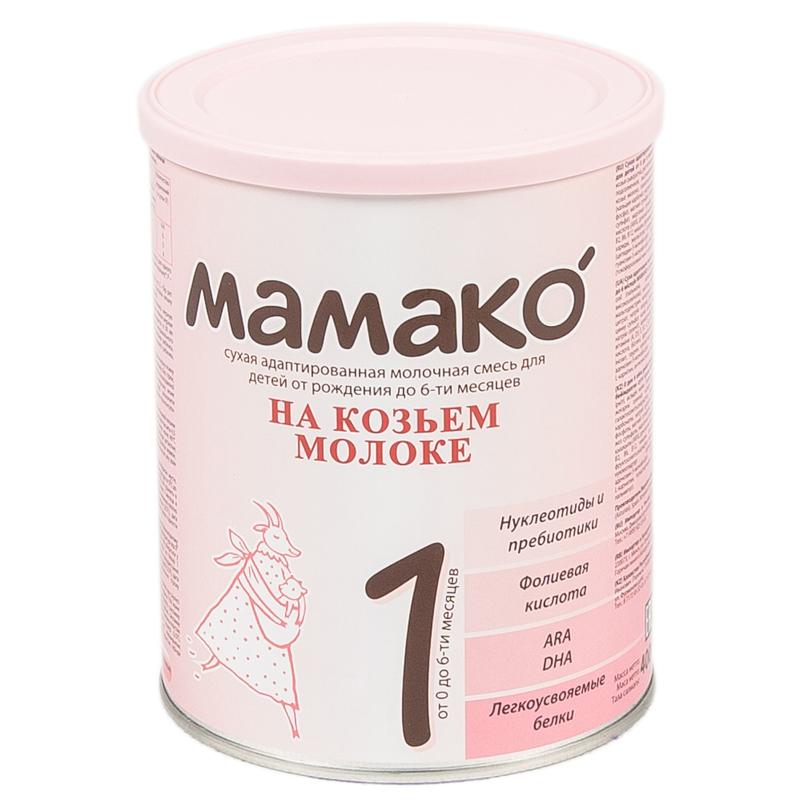 Мамако молочная смесь на основе козьего молока 400 гр №1 (с 0 до 6 мес)<br>