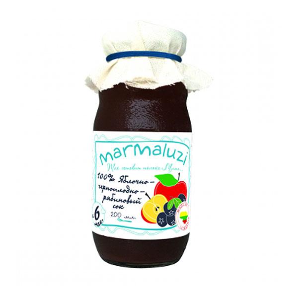 Сок Marmaluzi 200 мл Яблоко черноплодная рябина (с 6 мес)<br>