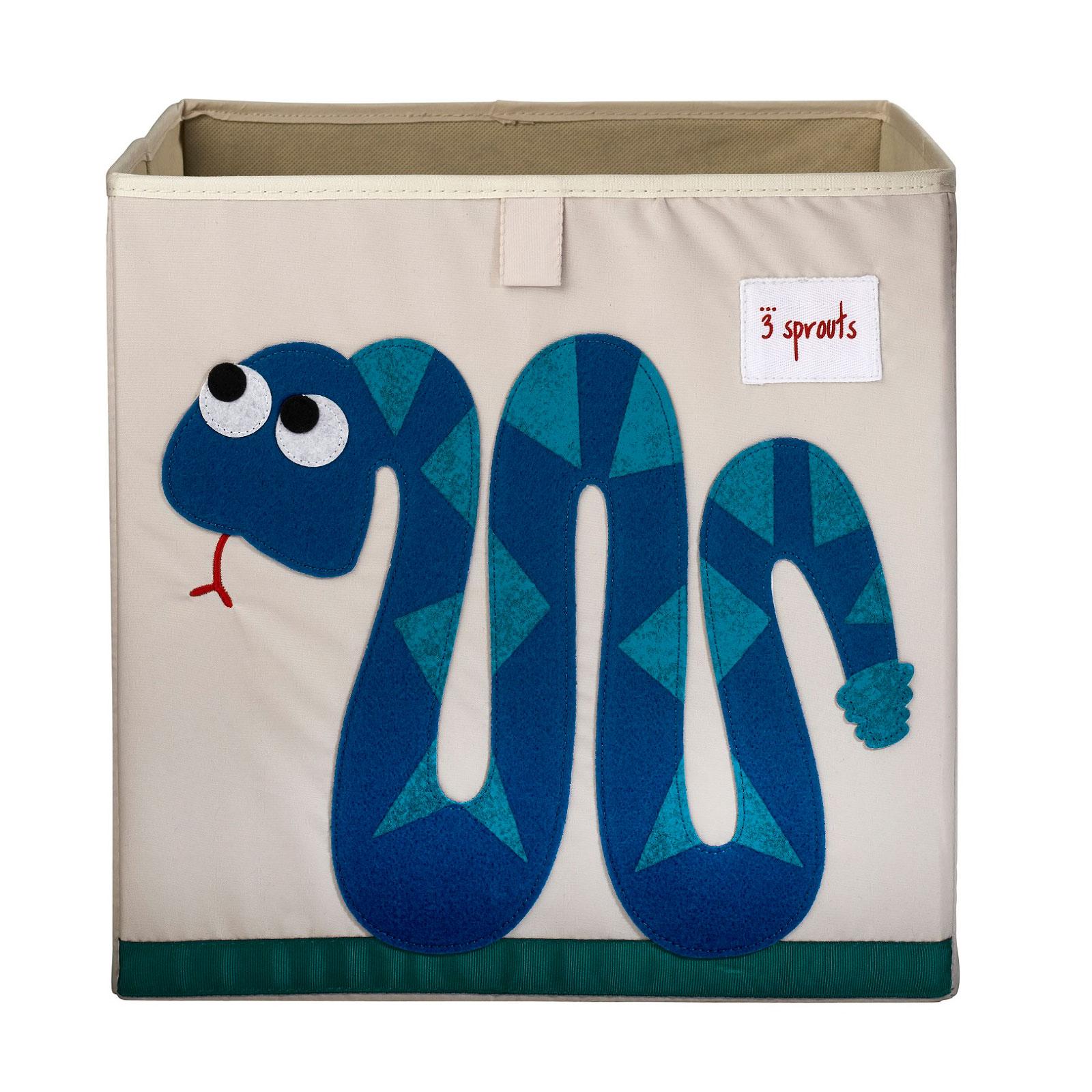 Коробка для хранения 3 Sprouts Змейка (Blue Snake) Арт. 00008<br>
