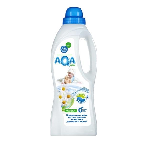 Бальзам AQA baby для стирки детских изделий из шерсти и деликатных тканей 1000 мл<br>