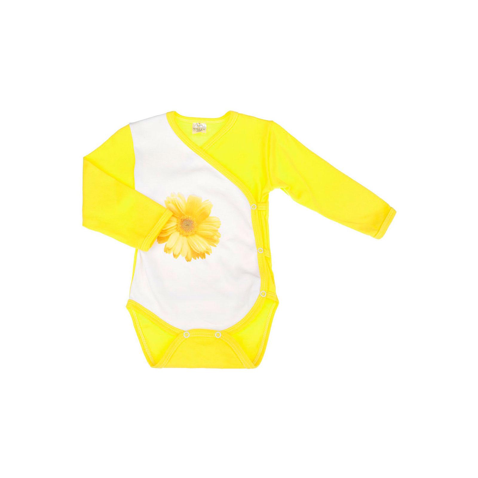 Боди распашонка Котмаркот Ромашки рост 74 желтый<br>