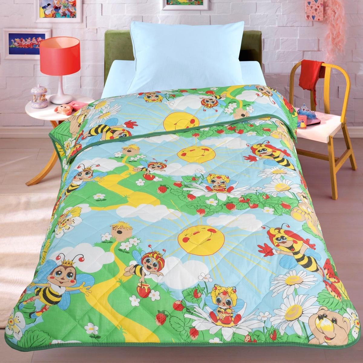 Покрывало-одеяло Letto 140*210 Пчела<br>