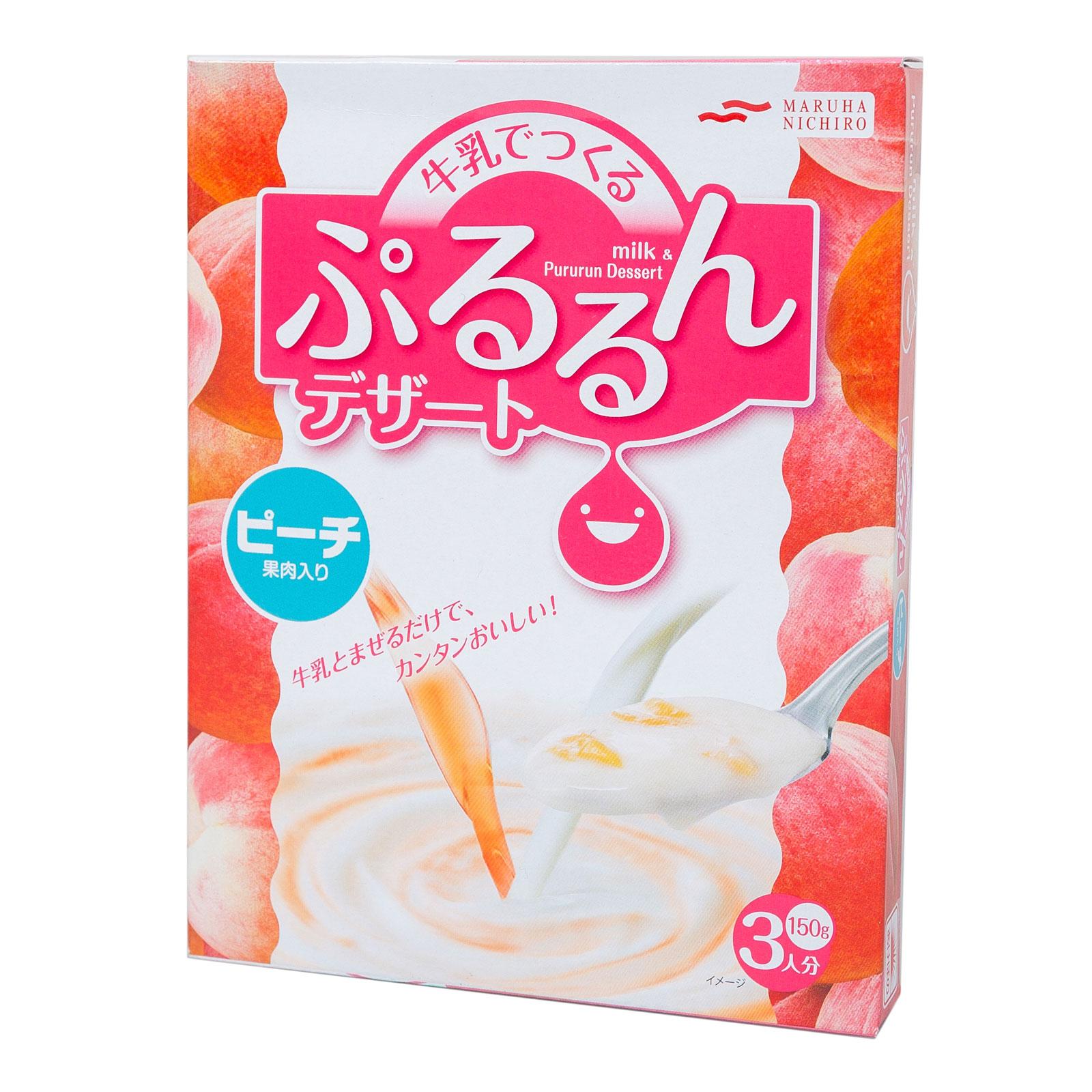Смесь Maruha Nichiro для молочного десерта 150 гр С кусочками персика (с 3 лет)<br>