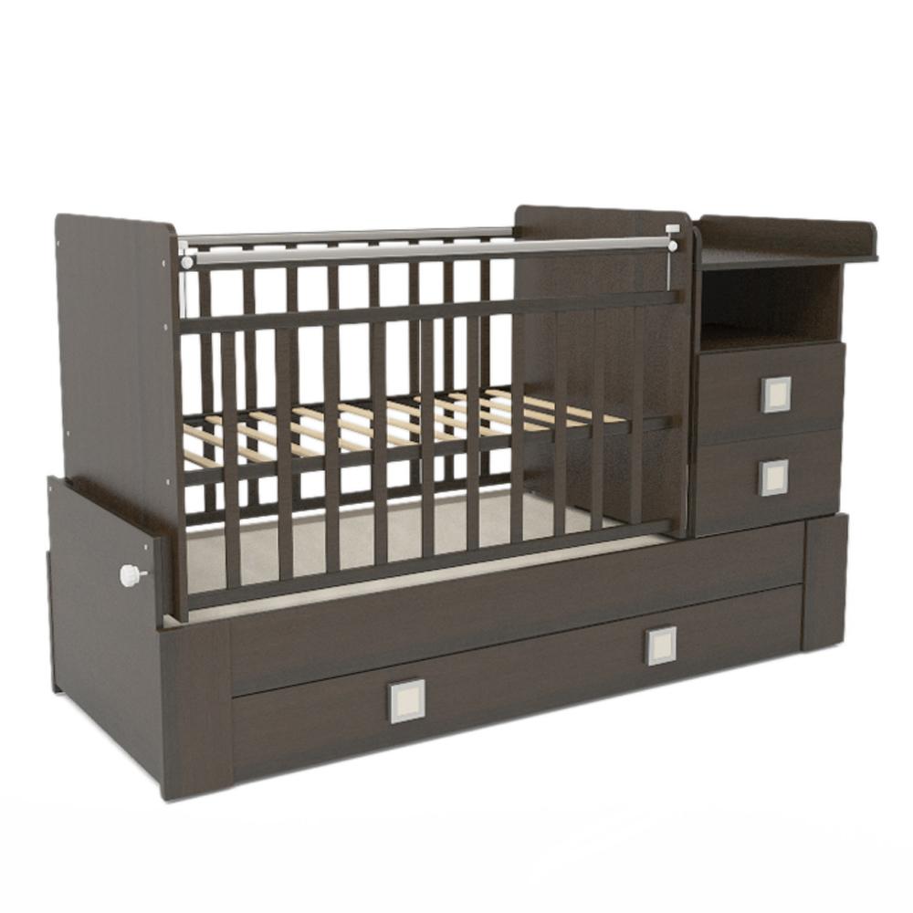 Кроватка-трансформер СКВ компани 83003 Венге<br>