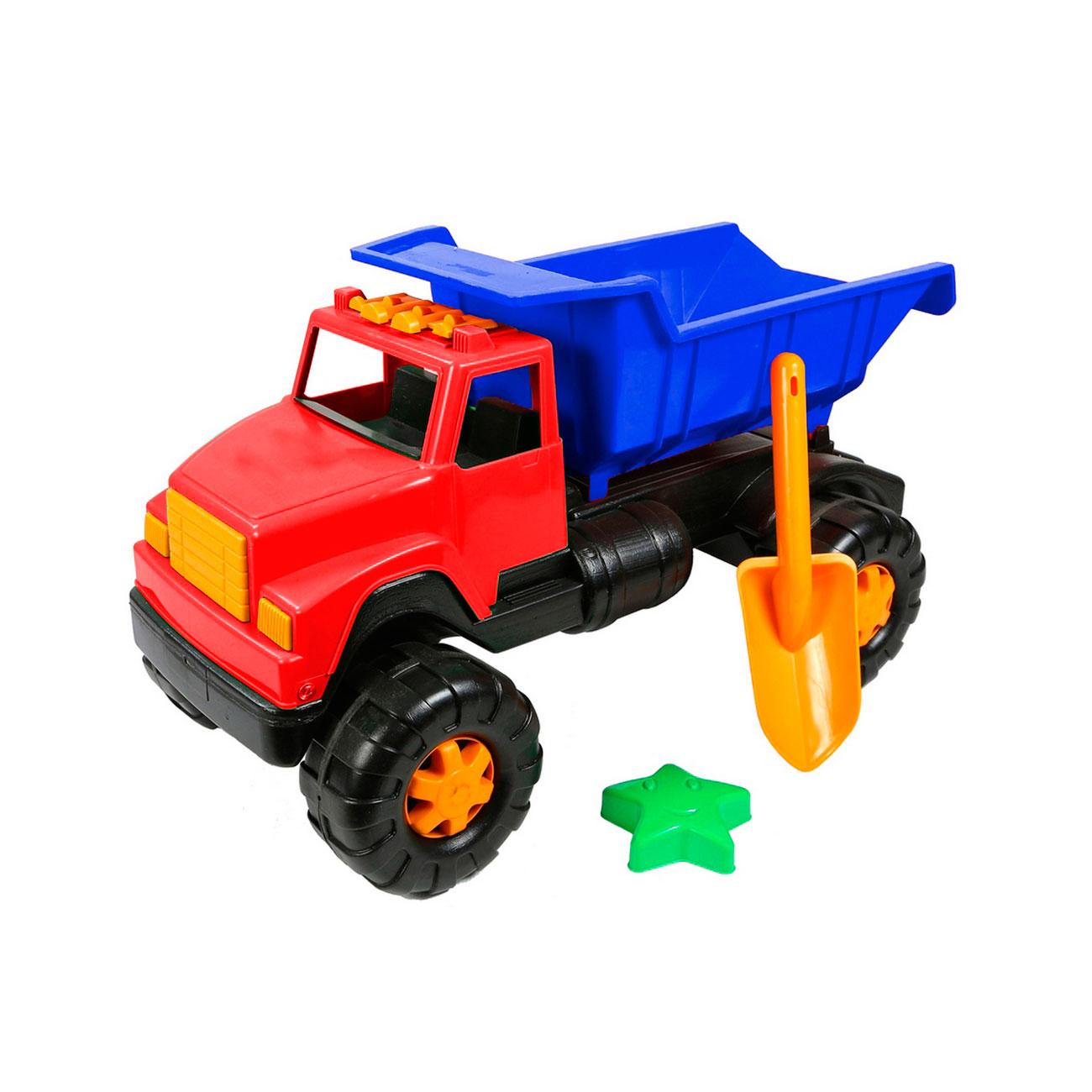 Автомобиль RT ОР191Интер BIG Цветной лопата и пасочка Синий с красным<br>