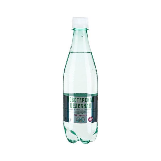 Вода минеральная Новотерская (пластик) 0,5 л.