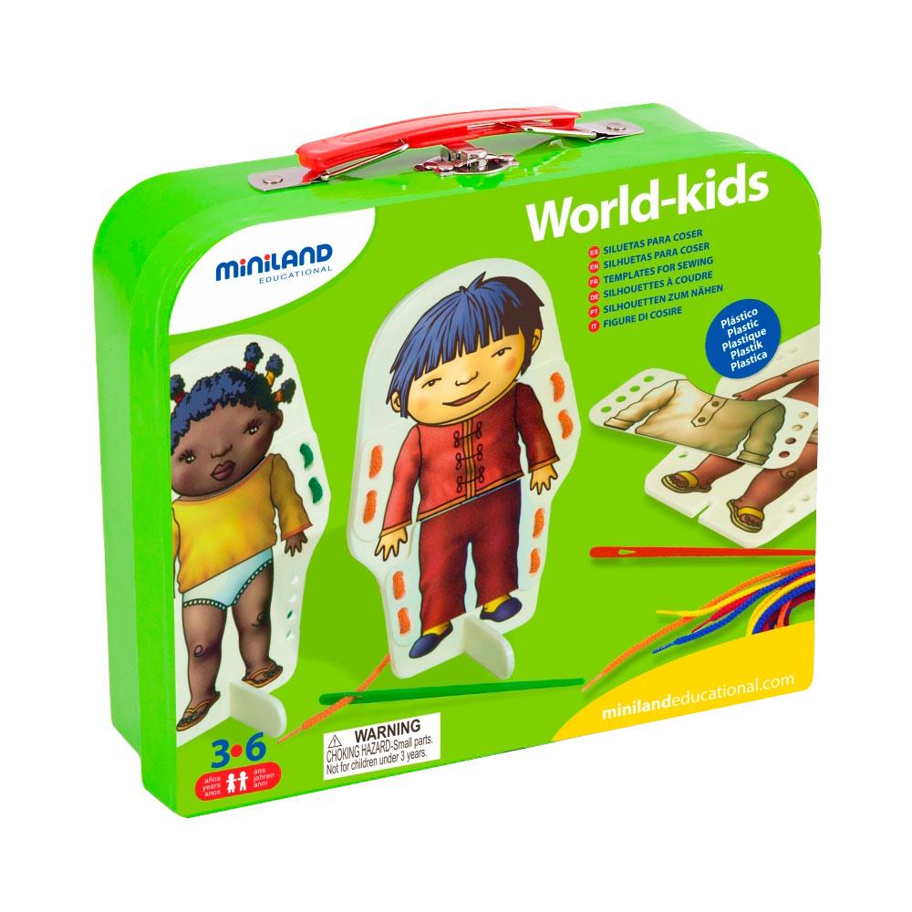 Обучающая игра со шнуровкой Miniland Дети мира<br>