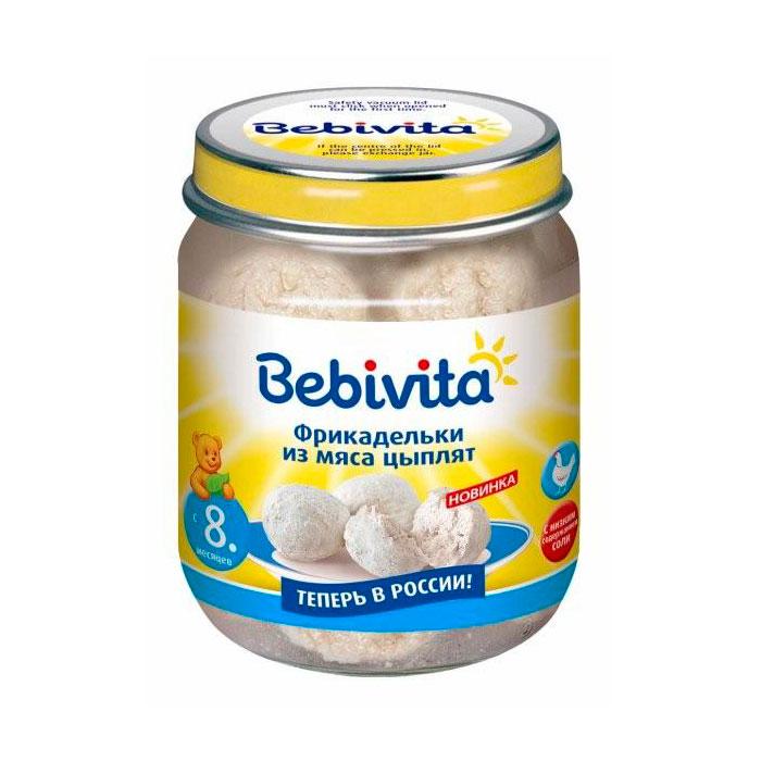 Пюре Bebivita мясное фрикадельки 125 гр Из мяса цыплят (с 8 мес)<br>