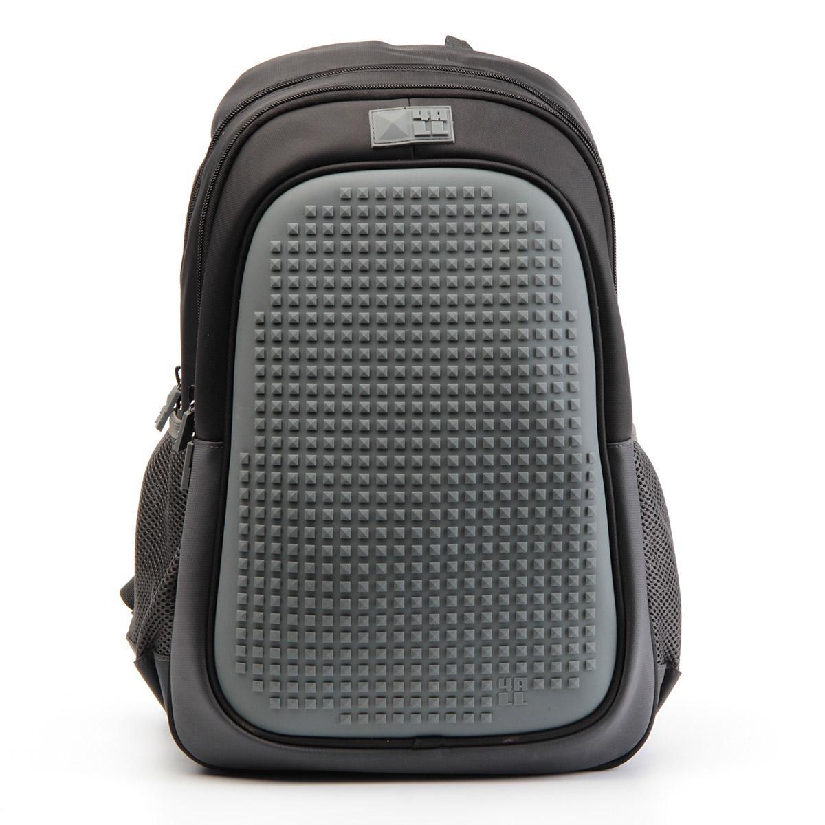 Рюкзак подростковый 4All Case Граффити Черный + Пиксели<br>