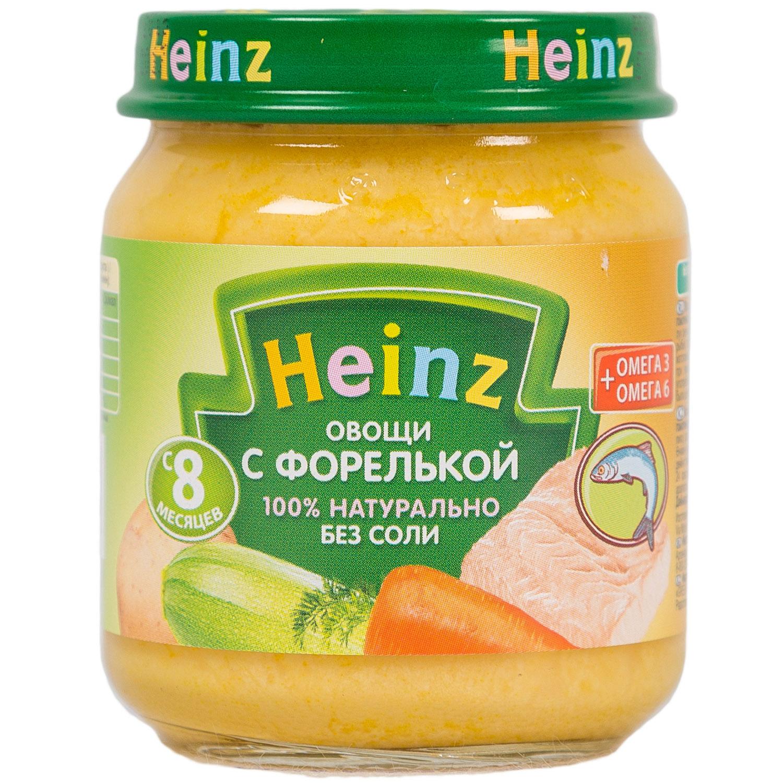 Пюре Heinz рыбное с овощами 120 гр Овощи с форелью (с 8 мес)<br>