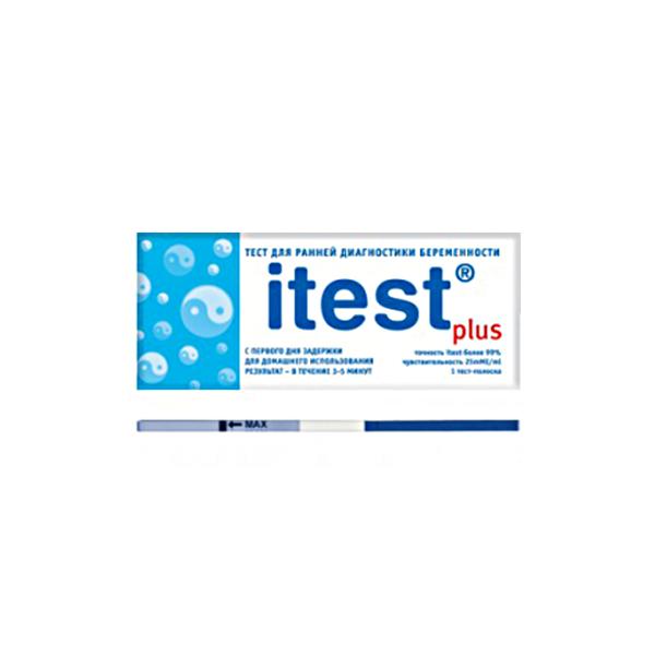 Тест iTest на определение беременности Plus (тест-полоска)