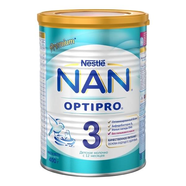 Детское молочко Nestle NAN Premium OPTIPRO 400 гр №3 (с 12 мес)<br>