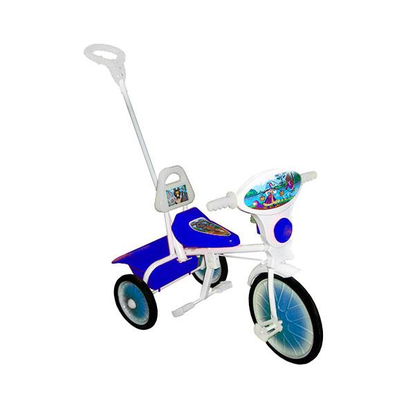 Велосипед трехколесный Малыш с ручкой Синий<br>