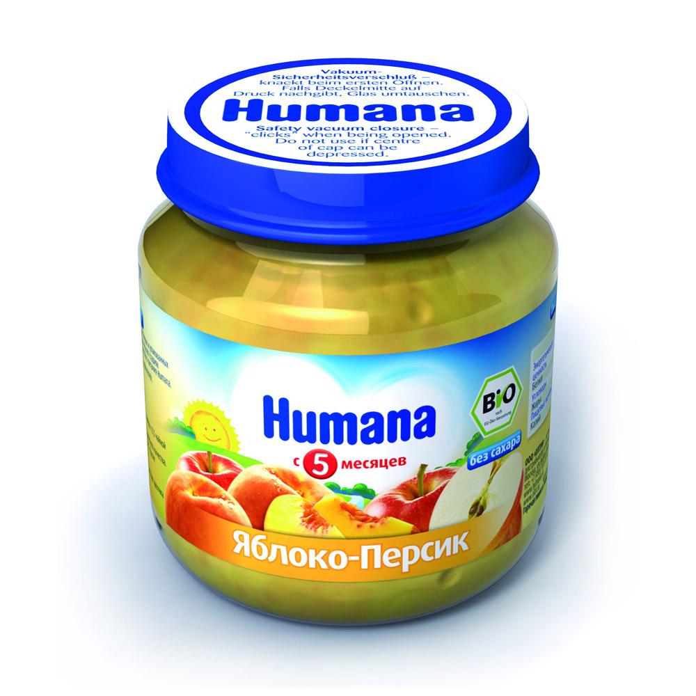 Пюре Humana фруктовое 125 гр Яблоко с персиком (с 5 мес)<br>