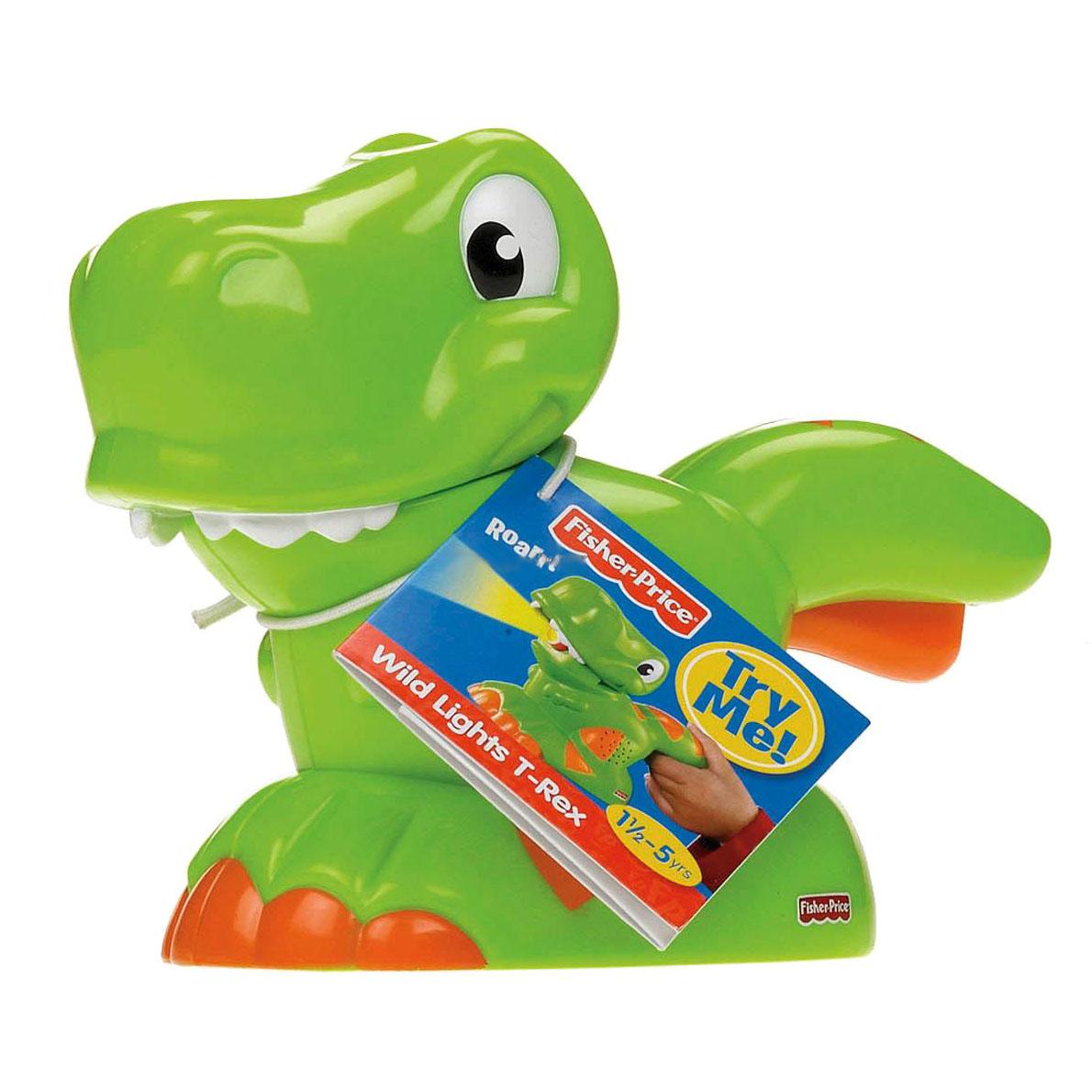 Развивающая игрушка Fisher Price Фонарик со звуковыми эффектами - Зеленый динозаврик<br>