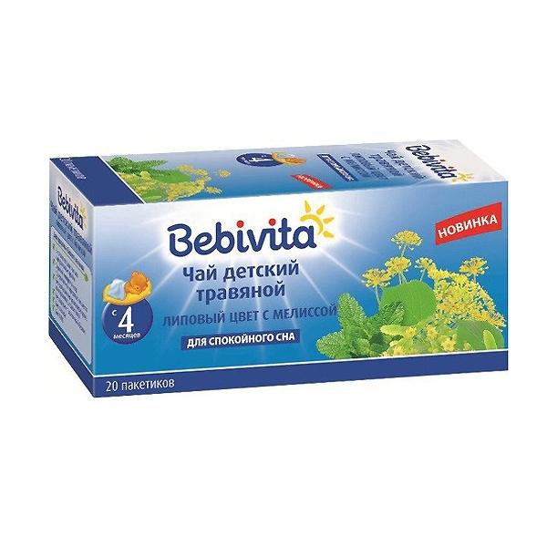 Чай детский Bebivita 20 гр (20 пакетиков) Липовый цвет с мелиссой (с 4 мес)<br>
