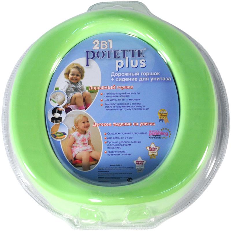 Горшок Potette Plus Набор 2 в 1 Горшок с 15 мес + сиденье от 2-х лет<br>