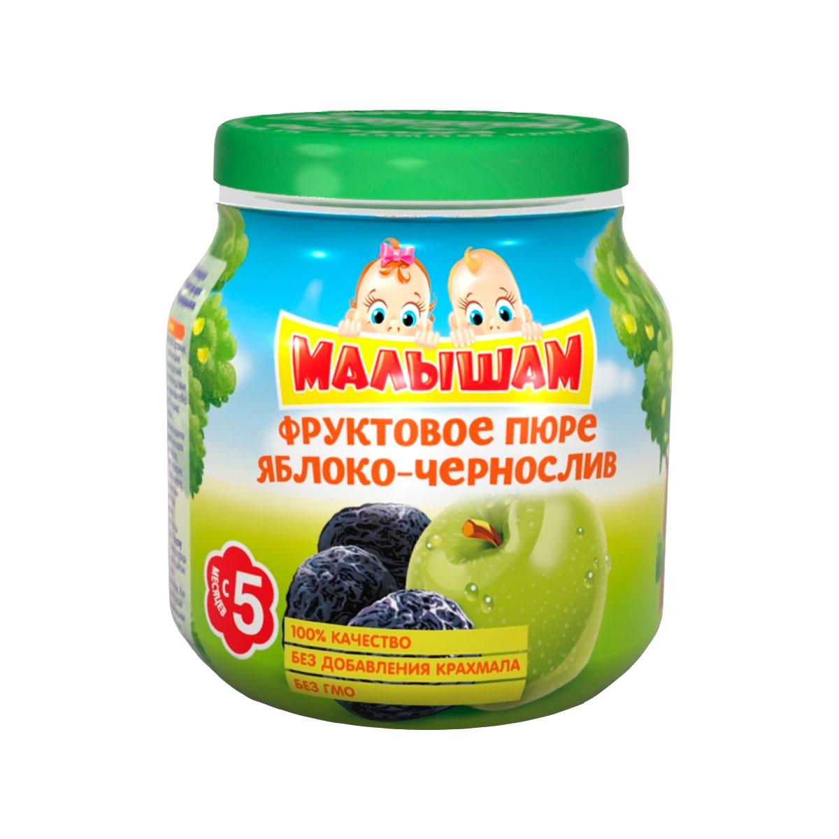 Пюре Малышам фруктовое 100 гр Яблоко чернослив (с 5 мес)<br>