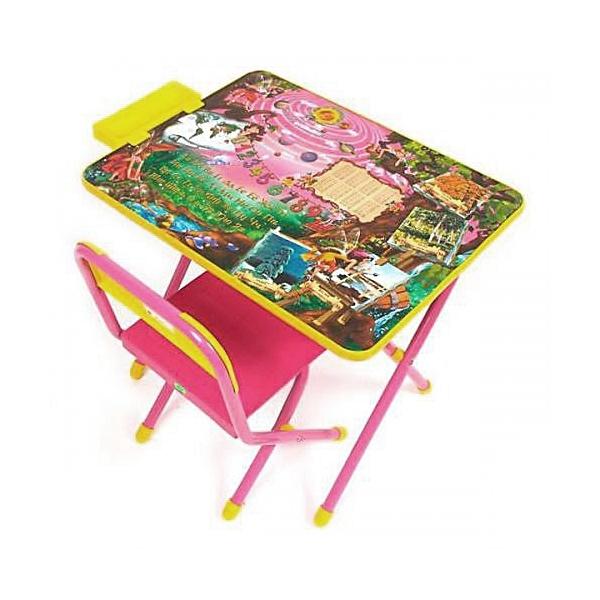 Набор мебели Дэми № 3 Парта Розовый Феечки<br>