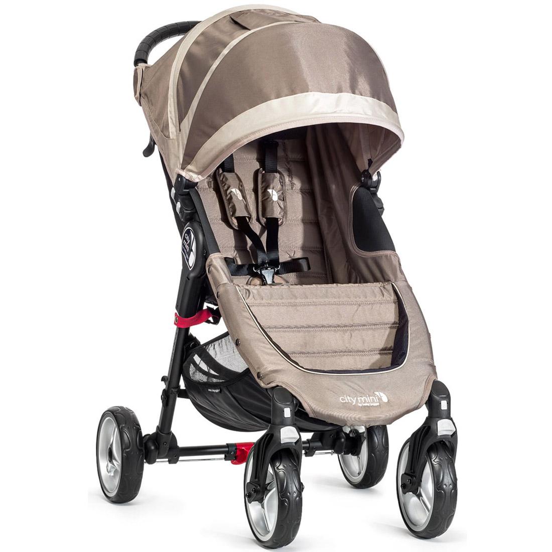 Коляска Baby Jogger City Mini Single 4Weel Песочная с серым<br>