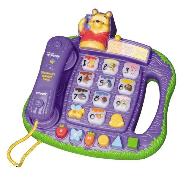 Развивающая игрушка Vtech Винни Пух Обучающий телефон<br>