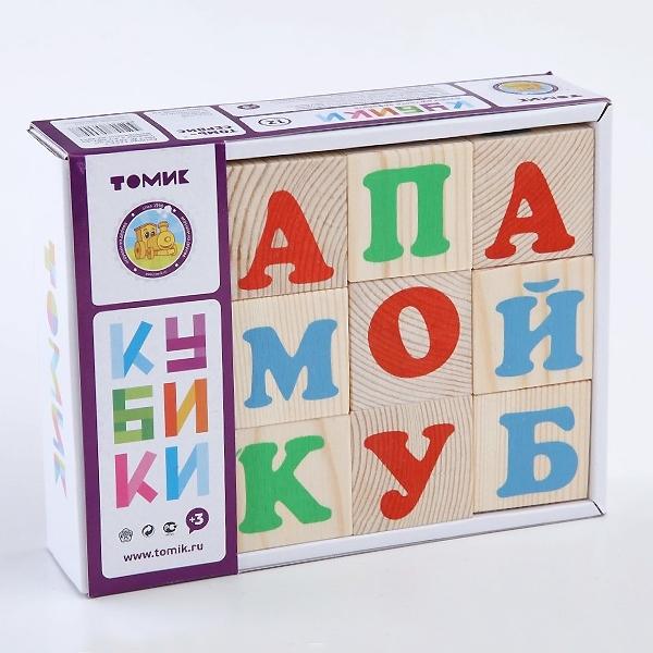 Кубики Томик Алфавит Русский (12 кубиков)<br>