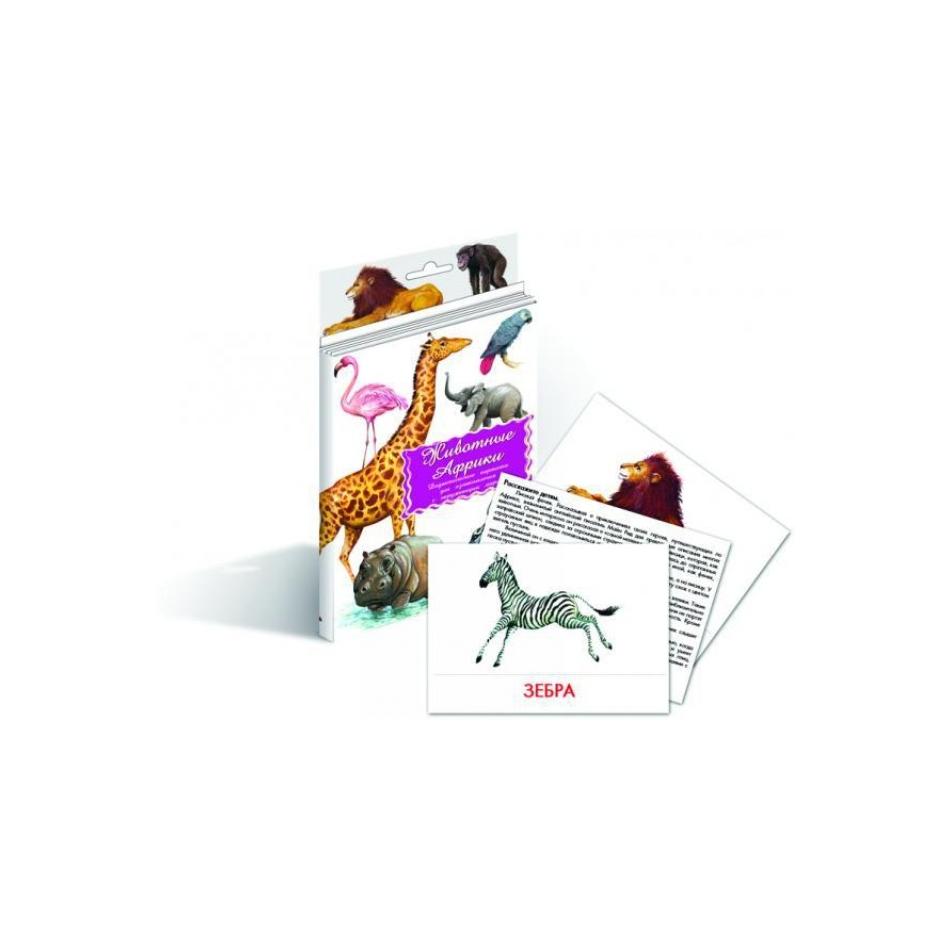 Дидактические карточки Маленький гений Животные Африки<br>