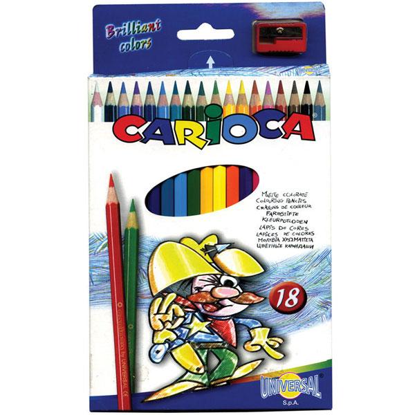 Набор карандашей цветных CARIOCA 18 цветов и точилка<br>