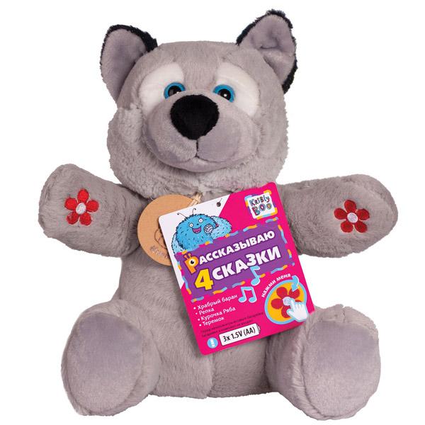 Мягкая игрушка Kribly Boo 25 см 4 сказки в ассортименте (Серенький волчок, Песик спорт)<br>