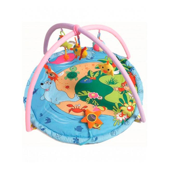 Развивающий коврик Felice Веселый островок Розовый<br>