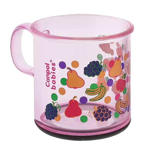 Чашка Canpol Babies С антискользящим дном розовая (с 12 мес)<br>