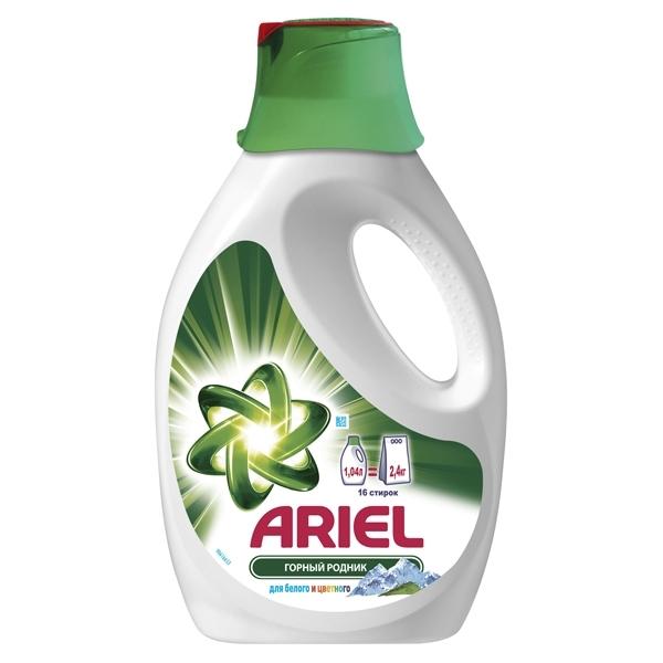 Жидкость Ariel для стирки Горный родник 1,04л для белого и цветного<br>
