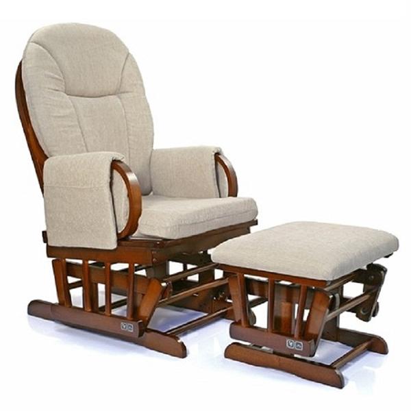 Кресло-качалка Happy Mama с подставкой для ног Espresso<br>