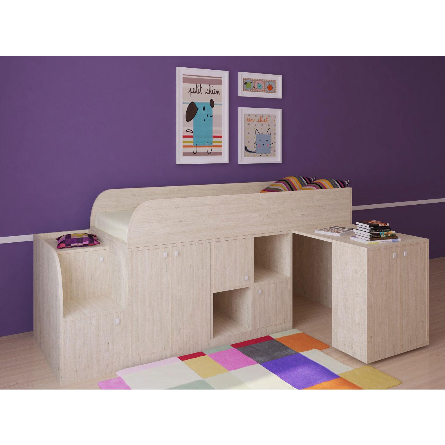 Набор мебели РВ-Мебель Астра мини Дуб молочный