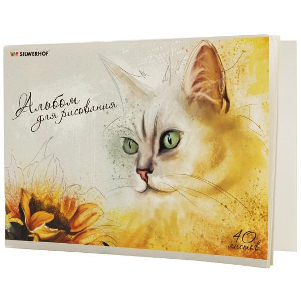 Альбом для рисования Silwerhof Кот
