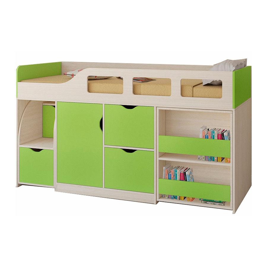 Набор мебели РВ-Мебель Астра 8 Дуб молочный/Салатовый<br>