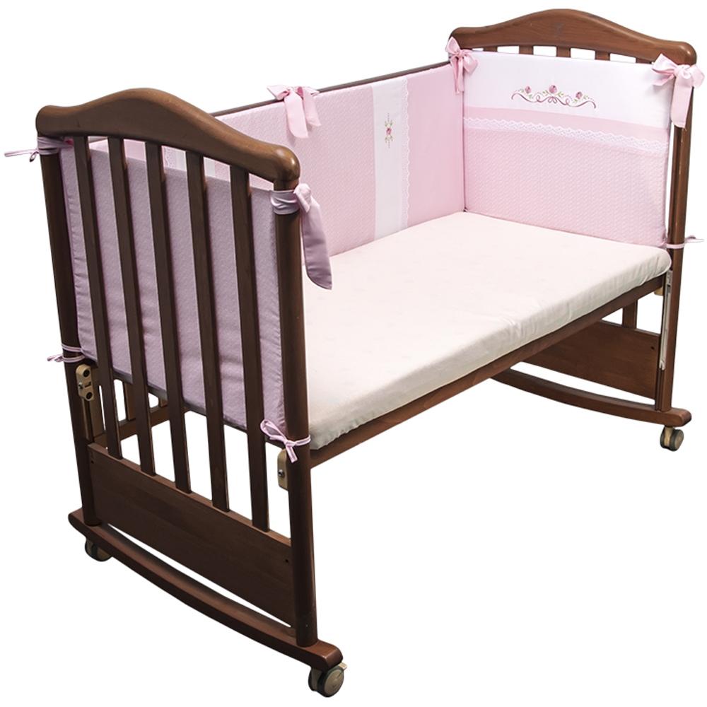 Борт в кроватку Сонный гномик Прованс Розовый<br>