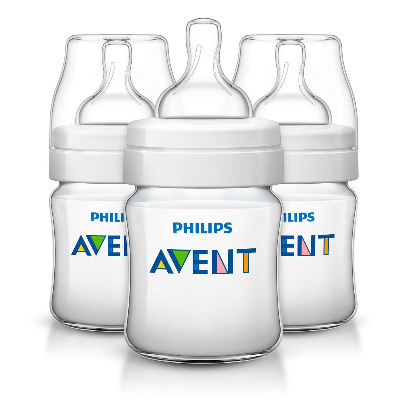 Бутылочка Philips Avent  Classic 3 шт 125 мл (с 0 мес)<br>
